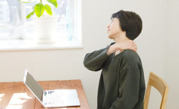 woman with a frozen shoulder