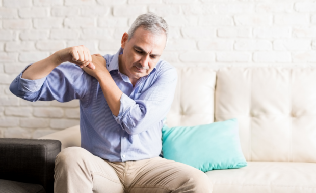 Man with AC Joint Injury